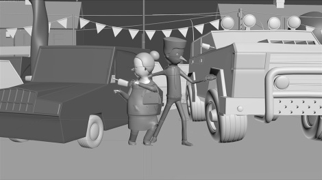 The Car People clay render